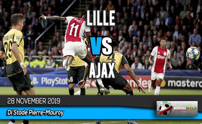 Prediksi Skor Bola Lille vs Ajax 28 November 2019