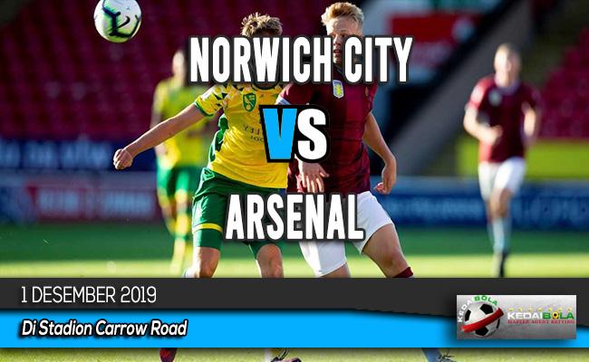 Prediksi Skor Bola Norwich City vs Arsenal 1 Desember 2019