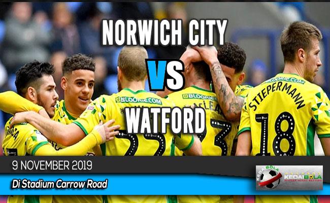 Prediksi Skor Bola Norwich City vs Watford 9 November 2019