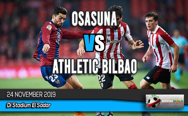 Prediksi Skor Bola Osasuna vs Athletic Bilbao 24 November 2019