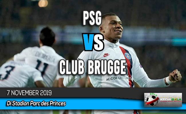 Prediksi Skor Bola PSG vs Club Brugge 7 November 2019