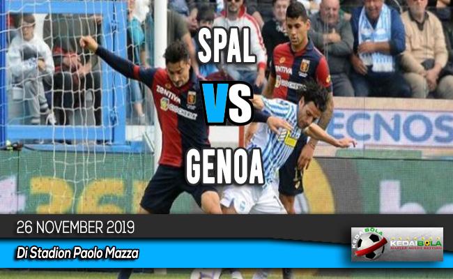 Prediksi Skor Bola SPAL vs Genoa 26 November 2019