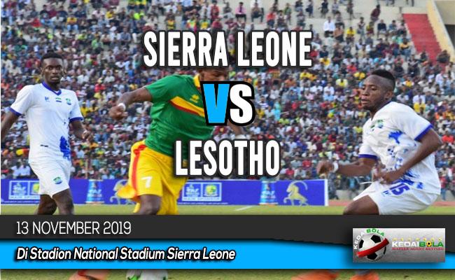 Prediksi Skor Bola Sierra Leone vs Lesotho 13 November 2019