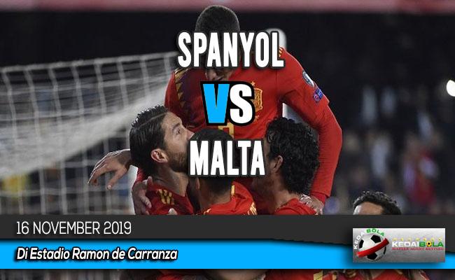 Prediksi Skor Bola Spanyol vs Malta 16 November 2019