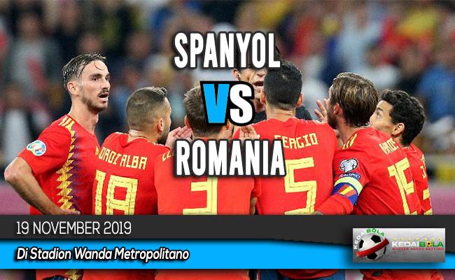 Prediksi Skor Bola Spanyol vs Romania 19 November 2019