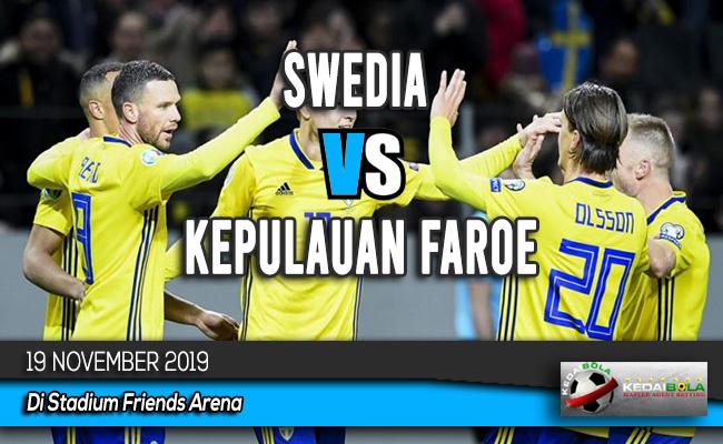 Prediksi Skor Bola Swedia vs Kepulauan Faroe 19 November 2019