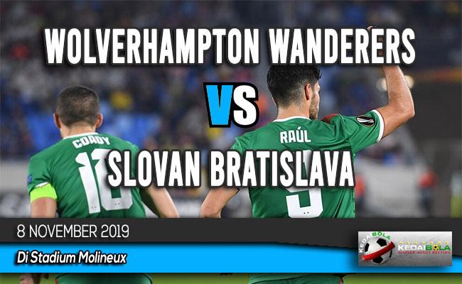 Prediksi Skor Bola Wolverhampton Wanderers vs Slovan Bratislava 8 November 2019