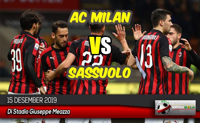 Prediksi Skor Bola AC Milan vs Sassuolo 15 Desember 2019