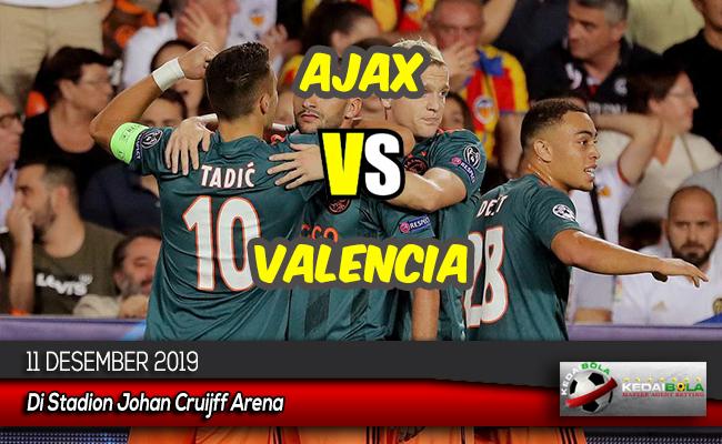 Prediksi Skor Bola Ajax vs Valencia 11 Desember 2019