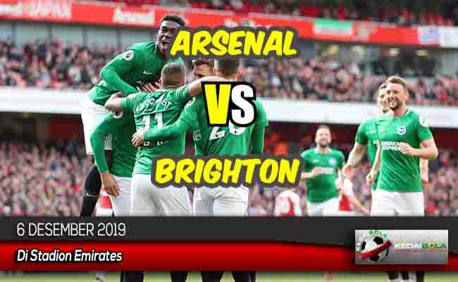Prediksi Skor Bola Arsenal vs Brighton 6 Desember 2019