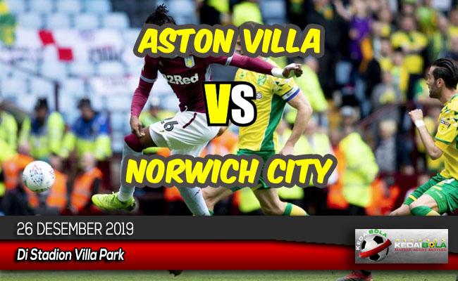 Prediksi Skor Bola Aston Villa vs Norwich City 26 Desember 2019