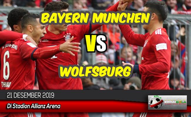 Prediksi Skor Bola Bayern Munchen vs Wolfsburg 21 Desember 2019