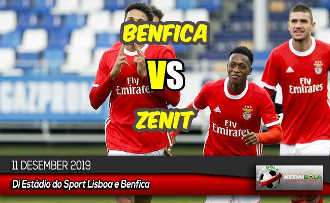 Prediksi Skor Bola Benfica vs Zenit 11 Desember 2019
