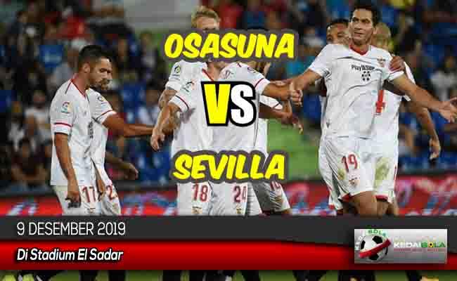 Prediksi Skor Bola Osasuna vs Sevilla 9 Desember 2019