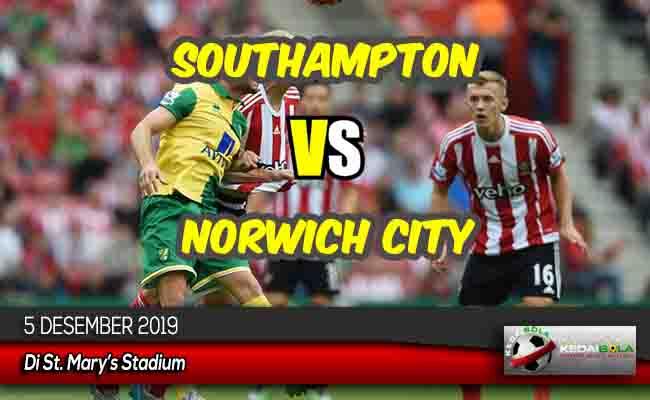 Prediksi Skor Bola Southampton vs Norwich City 5 Desember 2019