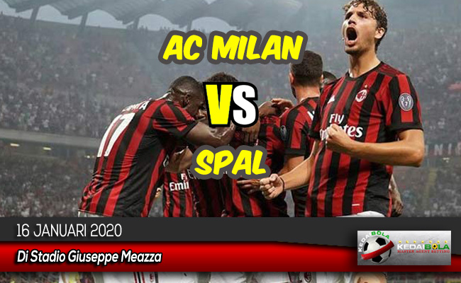 Prediksi Skor Bola AC Milan vs SPAL 16 Januari 2020