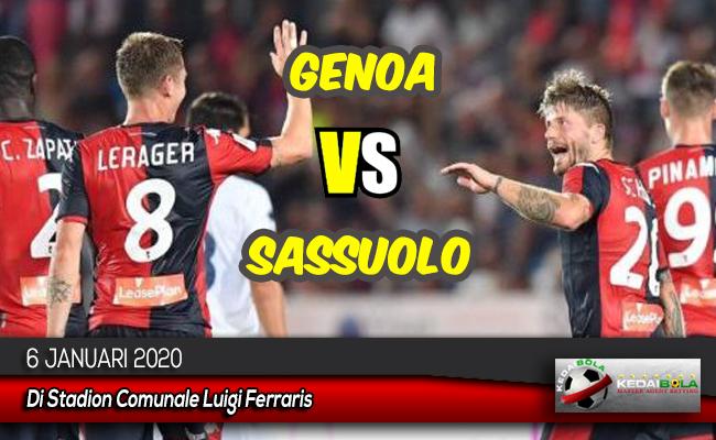 Prediksi Skor Bola Genoa vs Sassuolo 6 Januari 2020