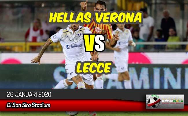 Prediksi Skor Bola Hellas Verona vs Lecce 26 Januari 2020