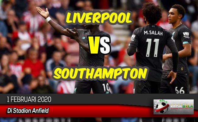 Prediksi Skor Bola Liverpool vs Southampton 1 Februari 2020