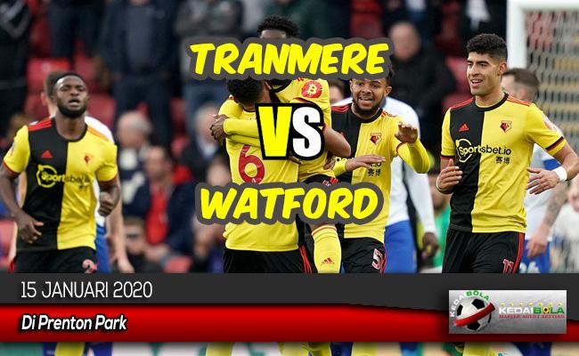 Prediksi Skor Bola Tranmere vs Watford 15 Januari 2020