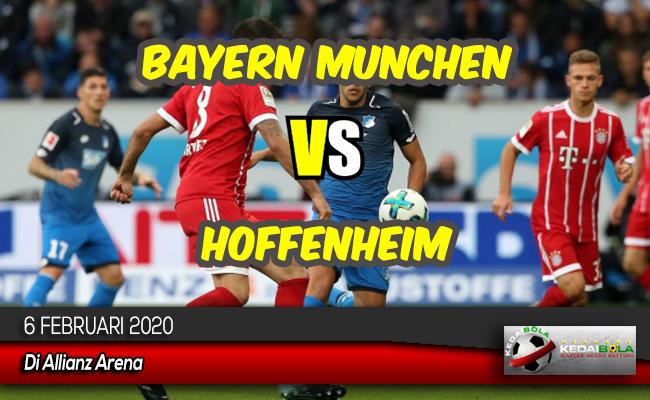 Prediksi Skor Bola Bayern Munchen vs Hoffenheim 6 Februari 2020