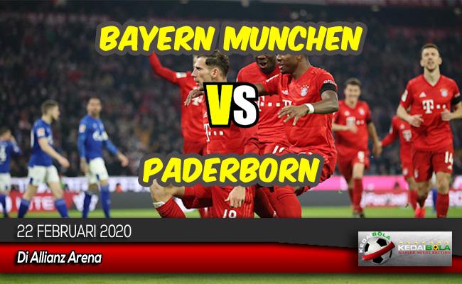 Prediksi Skor Bola Bayern Munchen vs Paderborn 22 Februari 2020