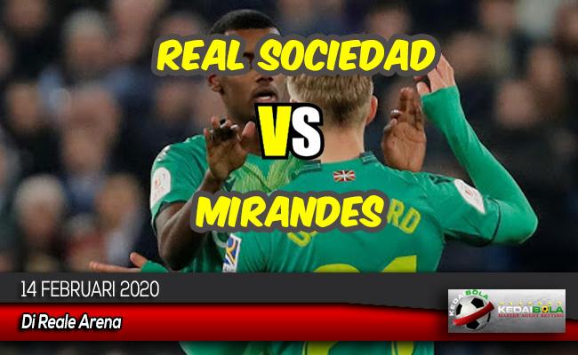 Prediksi Skor Bola Real Sociedad vs Mirandes 14 Februari 2020