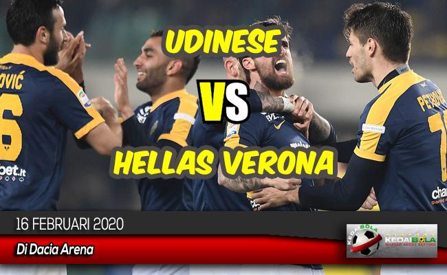 Prediksi Skor Bola Udinese vs Hellas Verona 16 Februari 2020