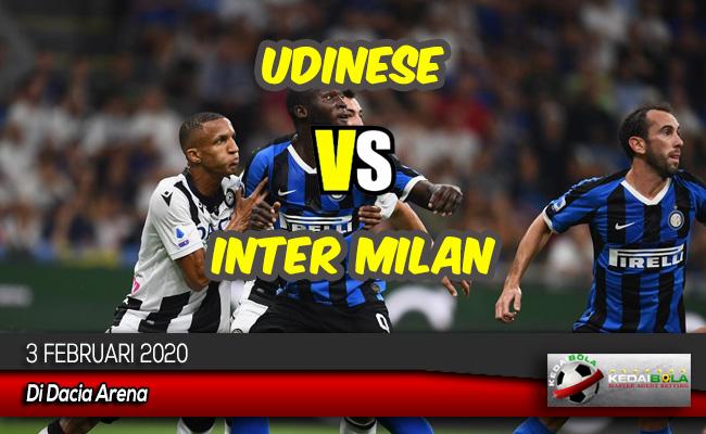 Prediksi Skor Bola Udinese vs Inter Milan 3 Februari 2020